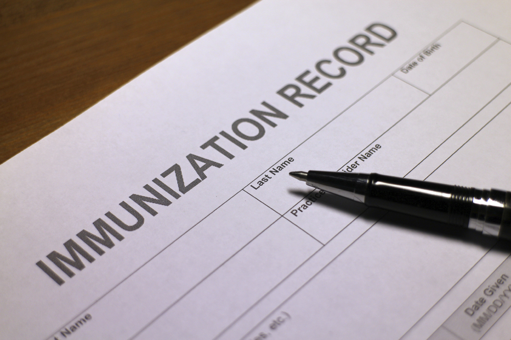 Be sure your students' immunizations are up to date