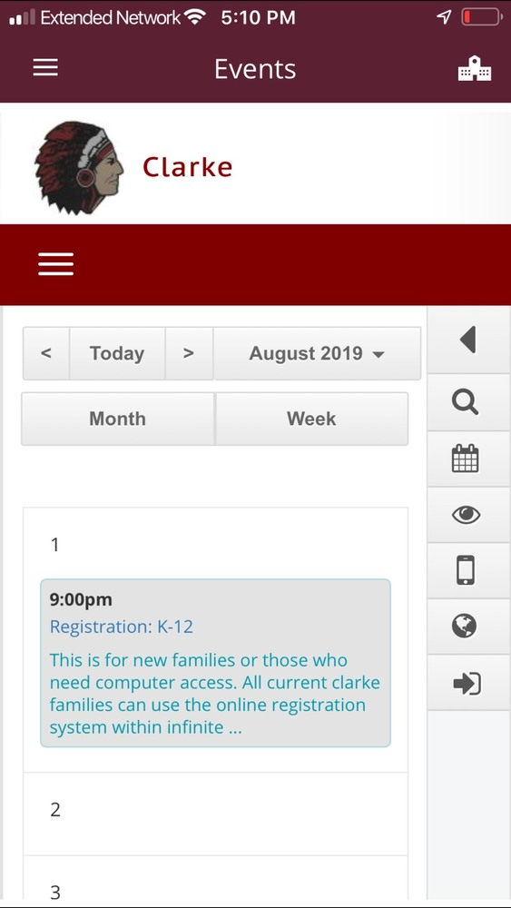 Clarke app & website now directly connected to the South Central Conference calendar!