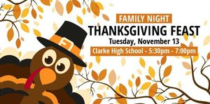 Don't Miss Clarke FAMILY NIGHT Tuesday, November 13th