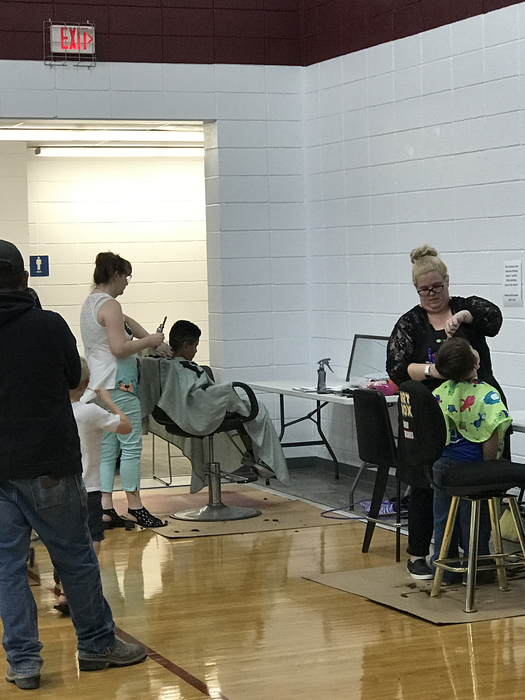 Haircuts at the Wellness Fair
