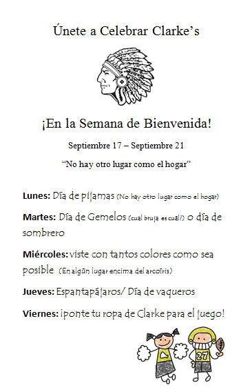 Homecoming Dress Up Days-Spanish