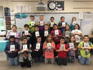 Kids with their new books!