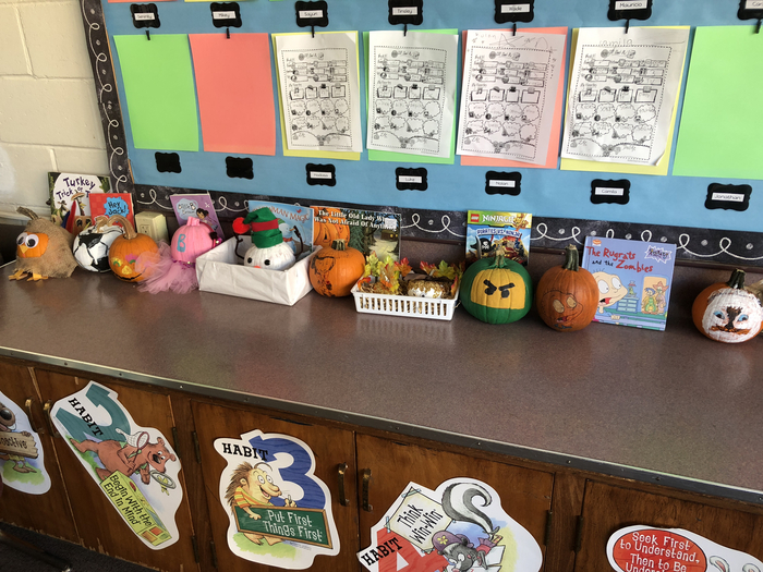Check out 2A's pumpkin book reports!