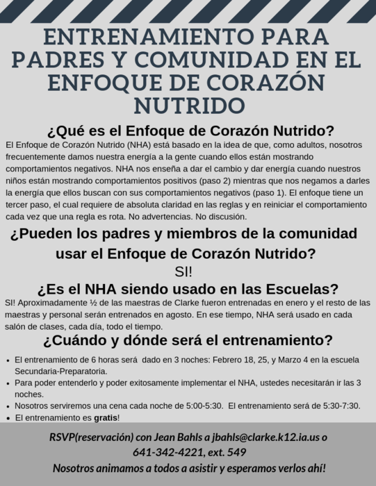 Spanish NHA Flyer