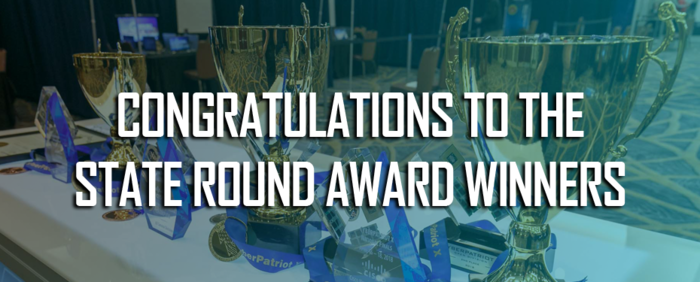 Congratulations to state round award winners