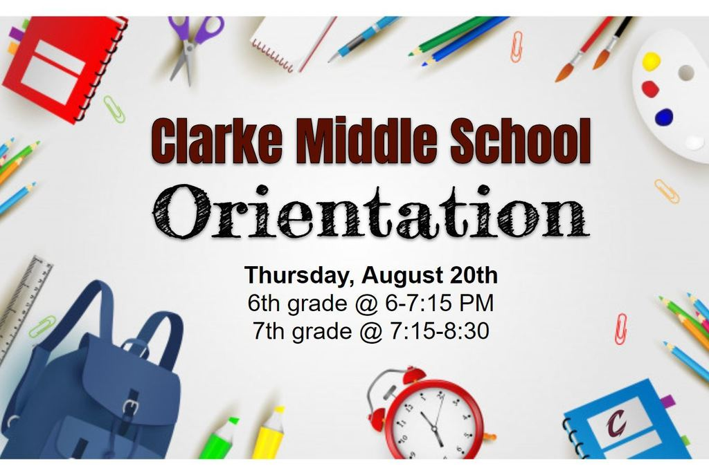 middle school orientation graphic